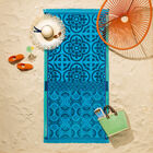 Telo mare Santorin Turquoise 100x200 100% cotone, , hi-res image number 0
