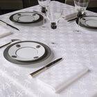 Tovaglia Anneaux Blanc 170x170 100% cotone, , hi-res image number 0